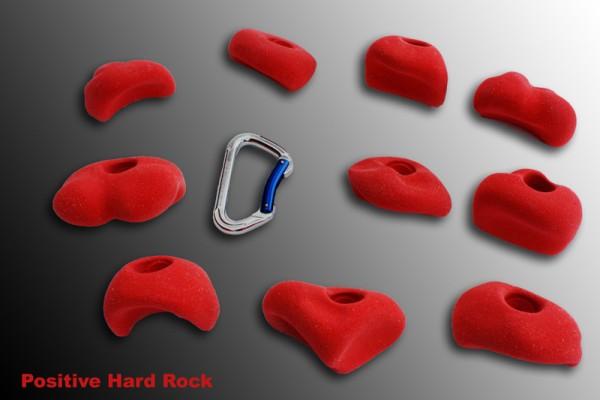 Positive Hardrock Klettergriffe