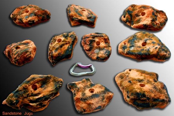 Sandstone Jugs XL Klettergriffe